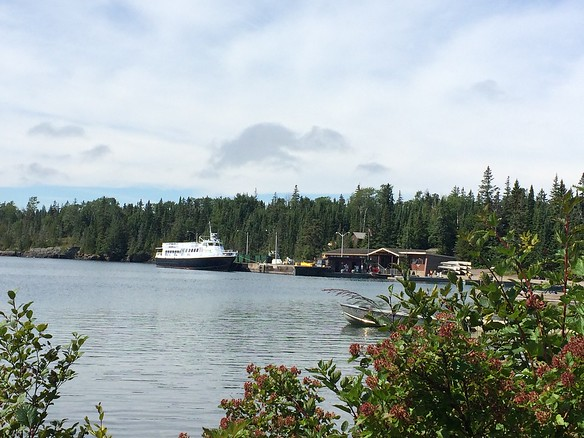 Rock Harbor and our ride back to the mainland.