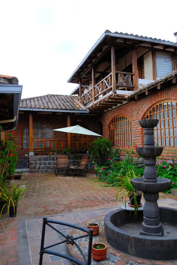 Courtyard at the hacienda