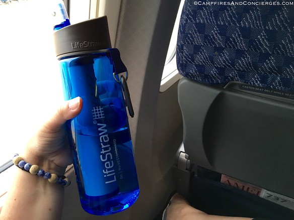 Drank tap-water the whole time, using my LifeStraw bottle!