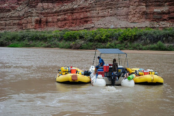 """We stopped to hike at """"The Loop"""" and the boats left to pick us up on the other side"""
