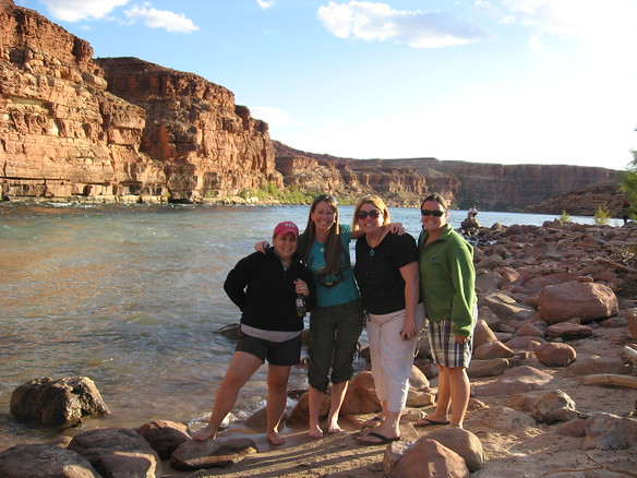 9/10 - Colorado River at Lee's Ferry - Amy, Jenny, Olivia and I