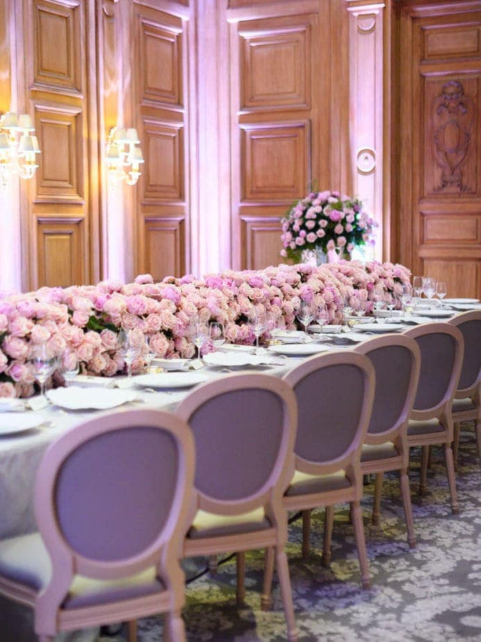four seasons george v paris wedding reception room