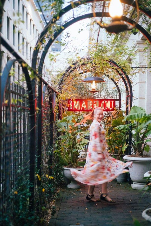 bar marilou sign at maison de la luz