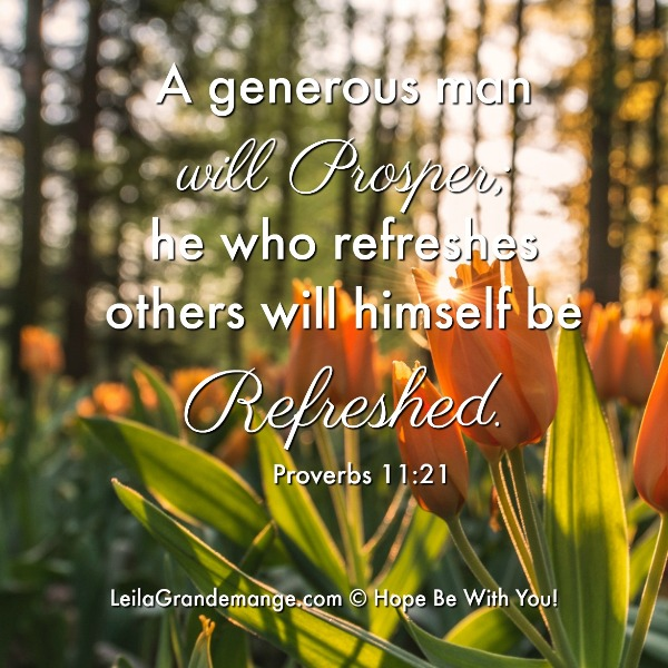 Refresh Others, and be Refreshed [Proverbs 11:25 image quote]