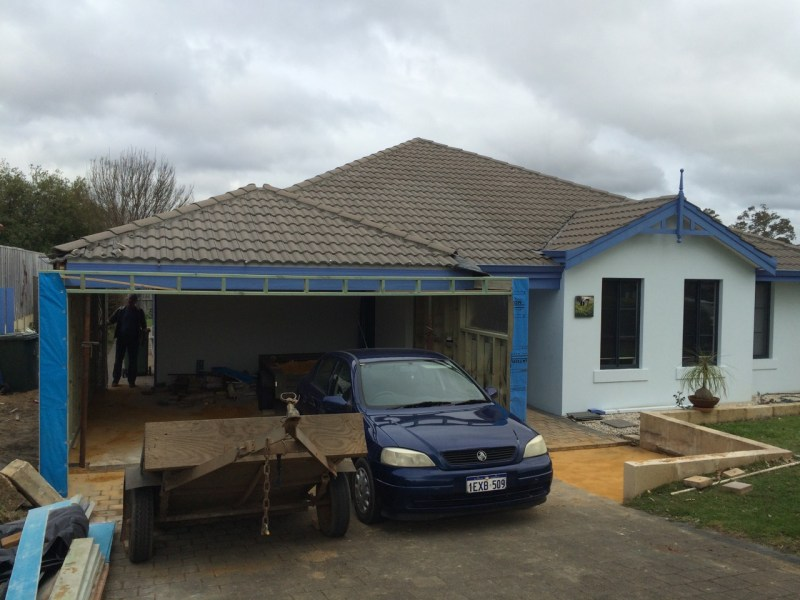 """The garage renovation """"before"""""""