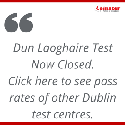 dun laoghaire test centre, dublin test centres pass rates