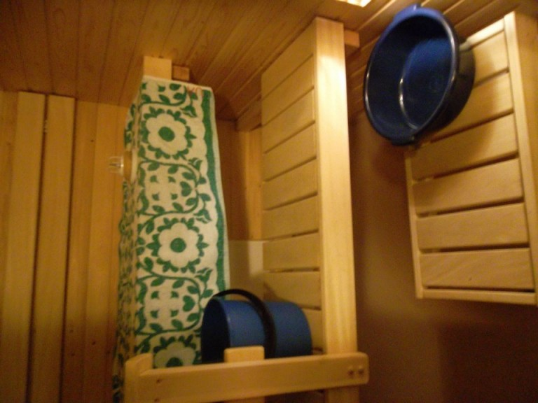 Elli's bathroom sauna in Tampere, Finland. Photo: Ana Ribeiro
