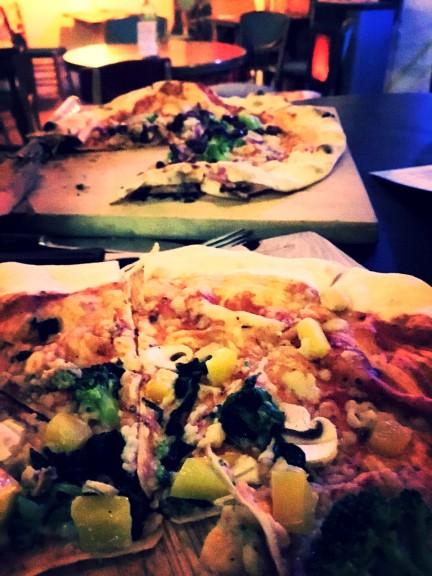 Vegan pizzas at Pizza LAB. Photo: Tayyibe Armagan