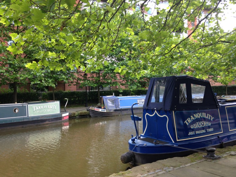 This Manchester houseboat perfectly describes my August afternoon in the city. Photo: Ana Ribeiro
