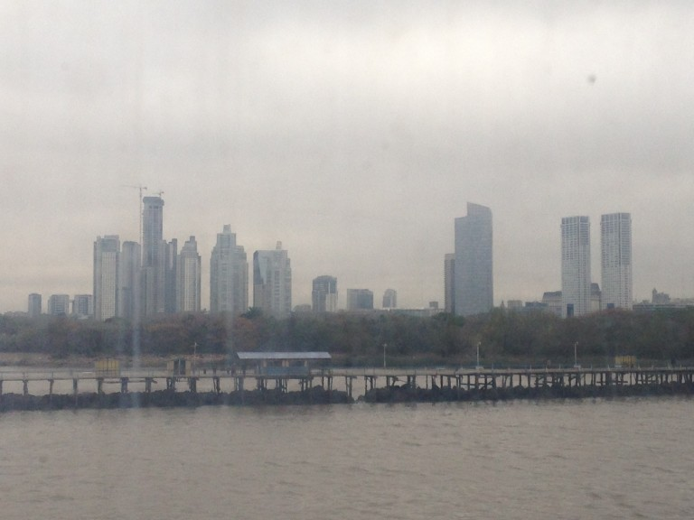 Arriving back in Buenos Aires by boat from Montevideo, via Colonia. (Photo: Ana Ribeiro)