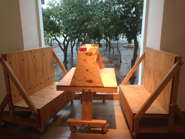 The reading booth where I sat down to write this story, in the Recoleta cultural center, Buenos Aires. (Photo: Ana Ribeiro)