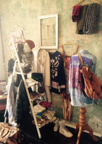 Samantha Lacey's personal wardrobe at her Leipzig area home. She is a huge fan of second-hand shopping in town. (Photo: Samantha Lacey)