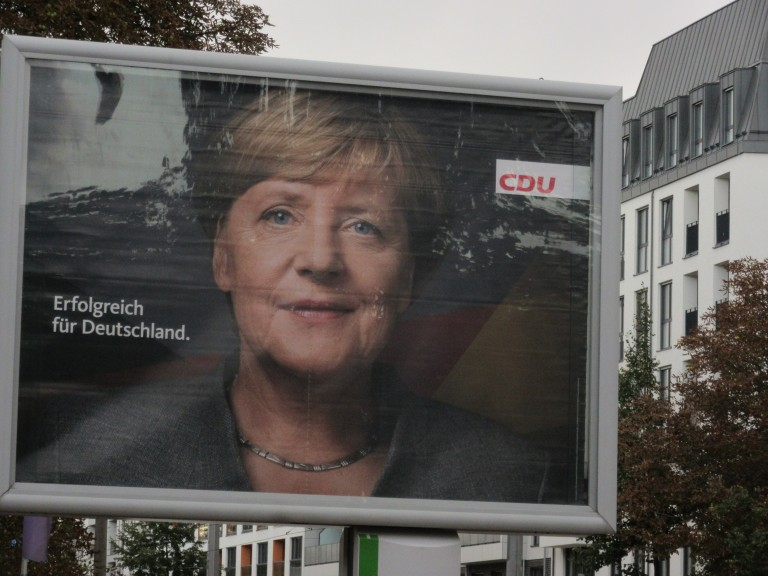 "The Union and its leader, Angela Merkel: ""Successful for Germany."" (Photo: Maximilian Georg)"