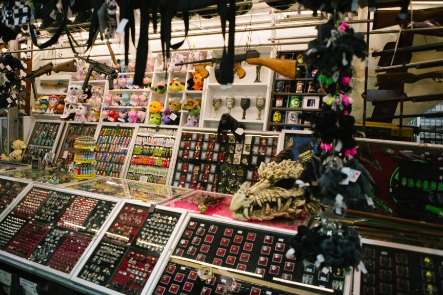Goth Fest merchandise at Agra. Photo: Erik Braga