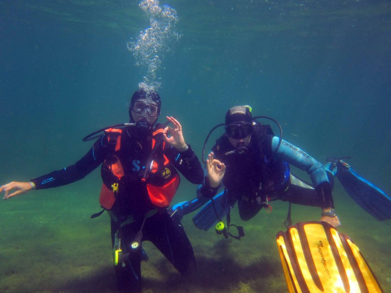 The author scuba diving at Lake Kulkwitz. (Photo courtesy of Harald Köpping)