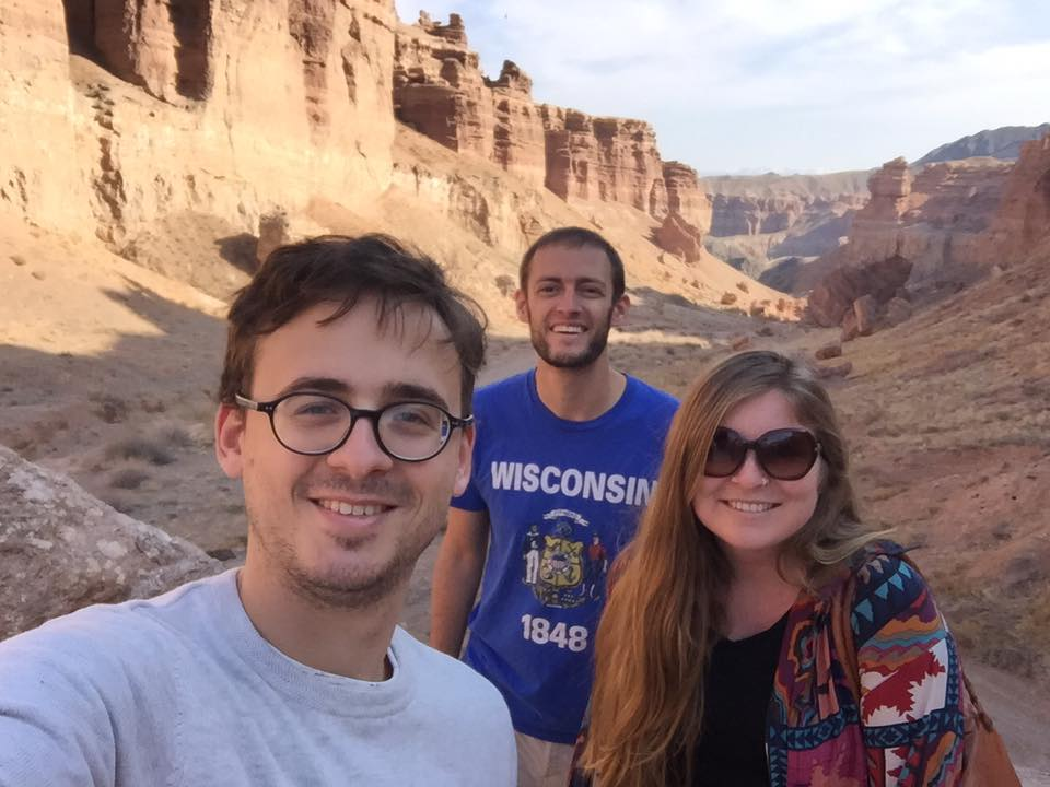 SEE, WE ARE THE ONLY PEOPLE FOR MILES! At Charyn Canyon. (Photo © Holly Doran)