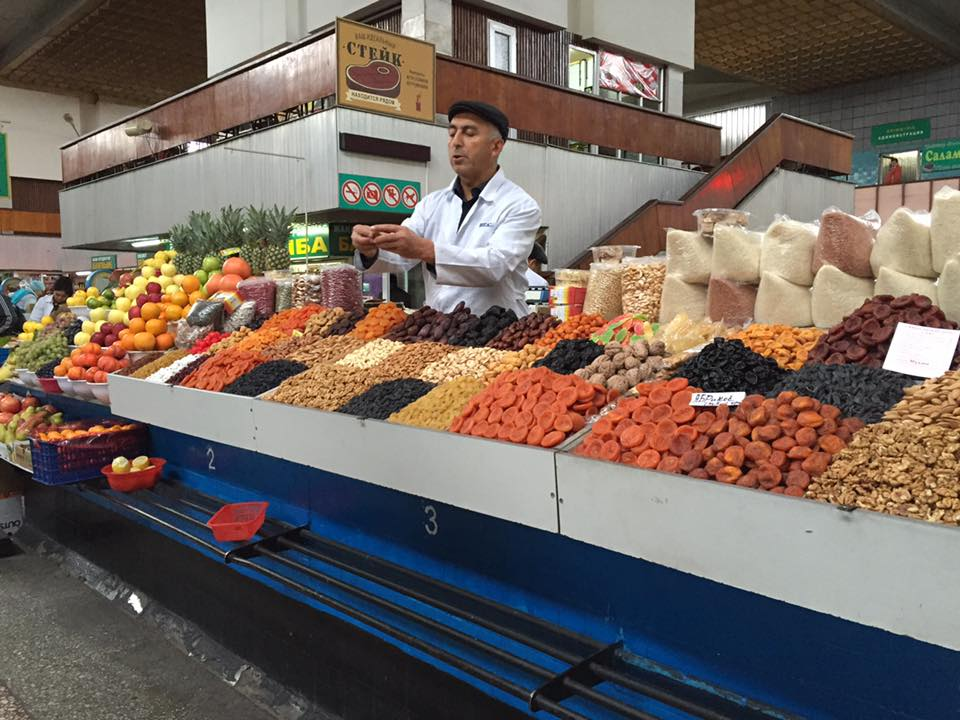 The market in Almaty. (Photo © Holly Doran)