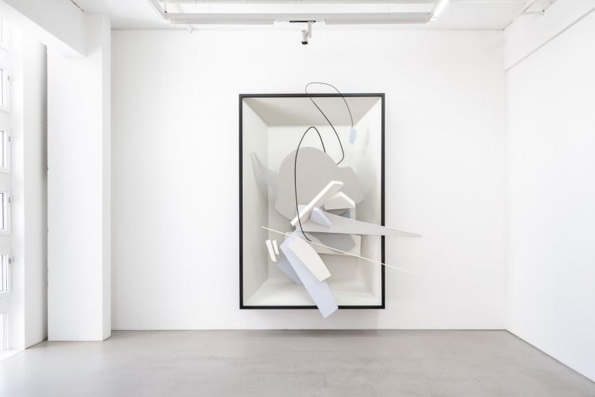 Oskar Rink, DADDY, 2016 Paper, cardboard, wood, acrylic and spray paint, 340 x 230 x 130 cm © Oskar Rink, photo: Uwe Walter