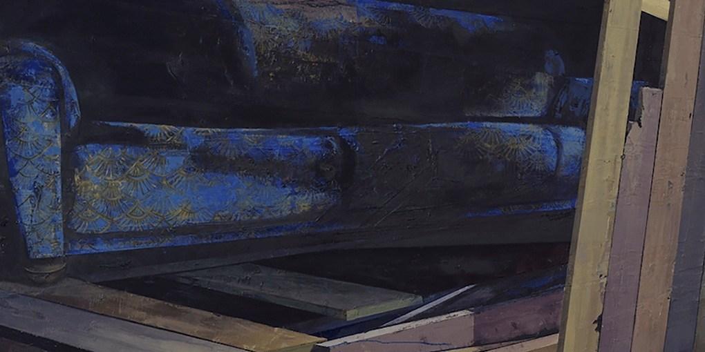 detail: Katrin Heichel, Scheitern [Heim III] 2018, Oil on Canvas, 210x300cm, photo courtesy of Josef Fillipp Gallery