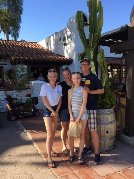 The Garrett family: Crister, Claudia, Kajsa, Sanna. (Photo courtesy of family)