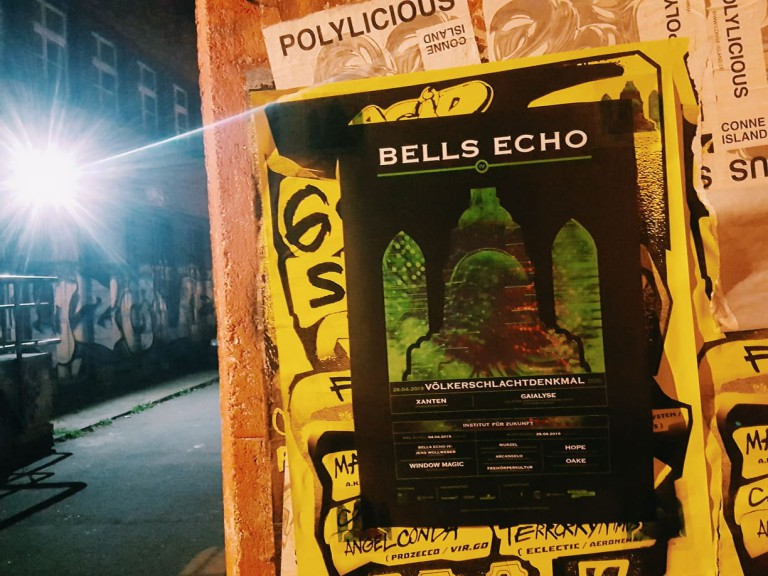 Bells Echo flyer outside IfZ. (Photo: Justina Smile)