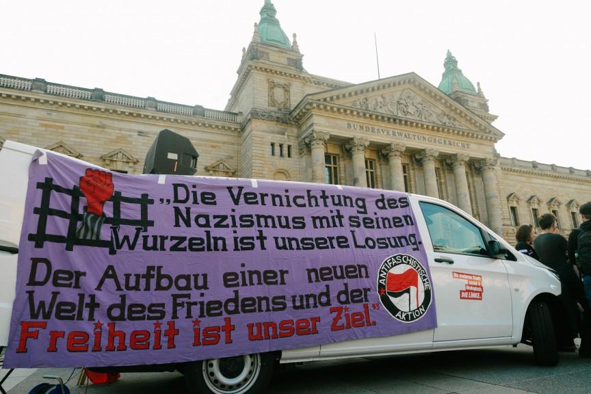 Counter Poggenburg demo Leipzig