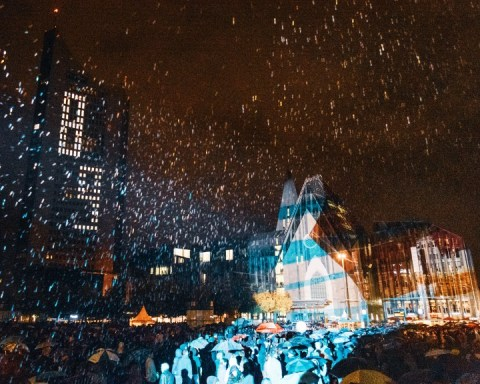 Lichtfest 2019, Augustusplatz