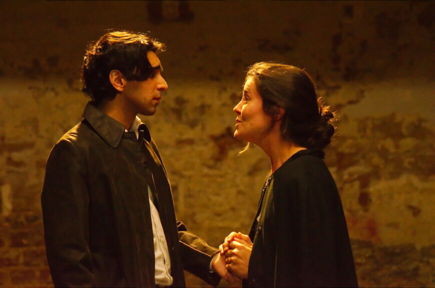 Christian (Ibrahim ) and Roxane (Letitzia ). Image by Peter Hubbard, courtesy of ETL.