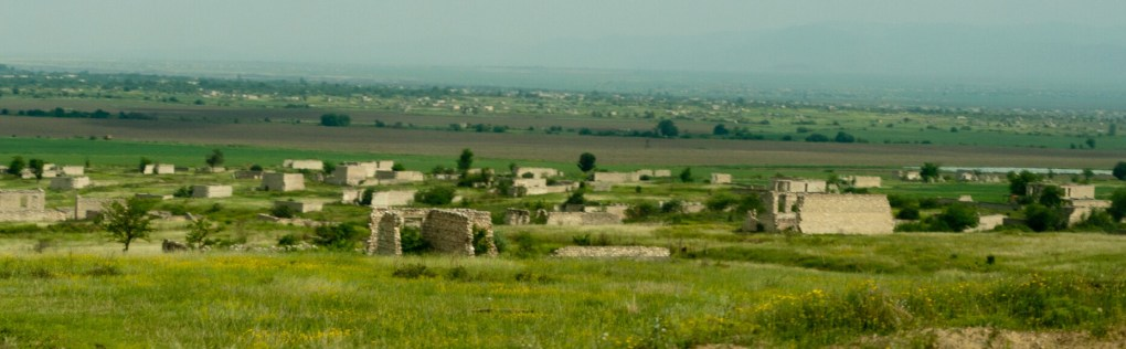 The ruins of the city of Agdam in the Nagorno Karabakh region
