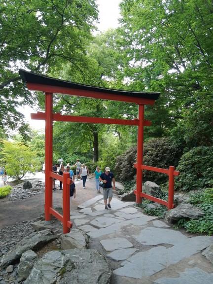 Japanese garden entrance Buga Erfurt