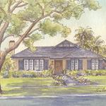 Prairie bungalow house portrait: Pasadena, CA