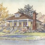 Bungalow house portrait - thumbnail