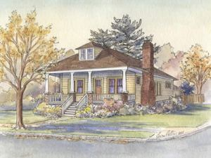 Bungalow house portrait - thumbnail