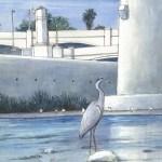 Grey Heron, Hyperion Bridge Los Angeles  (715x1024)