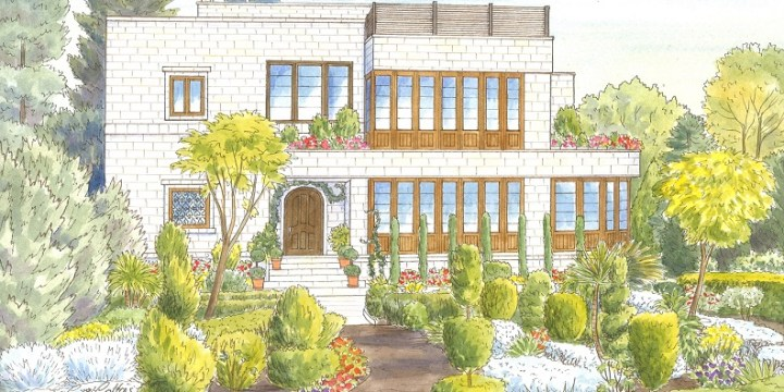 What does a House Portrait in Jordan look like?