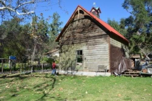 Monrovia carriage barn currently under restoration