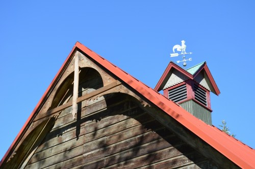 Victorian details of the barn
