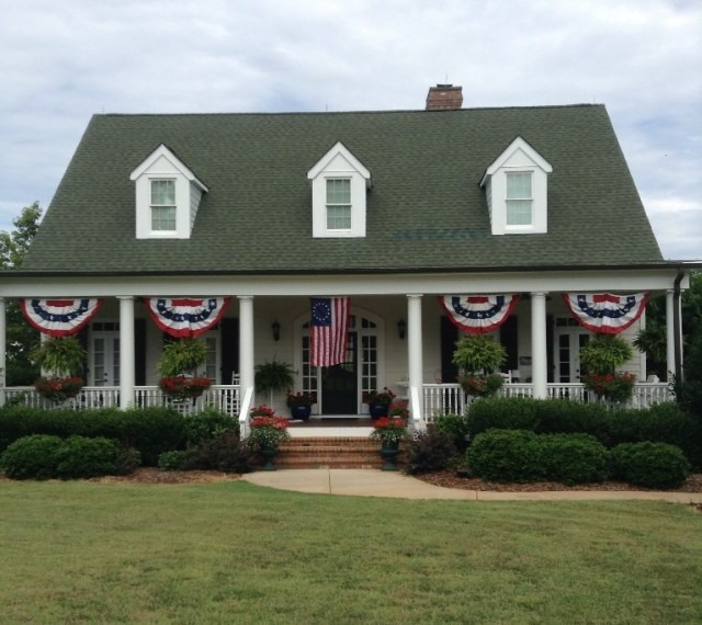 A classic Colonial home in NC was the winner of the porch contest.