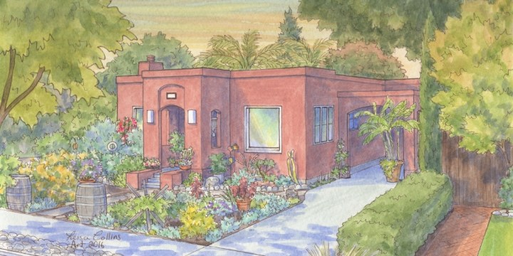 Watercolor House Portraits in Summer