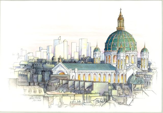 OPTArchitectural-Fusion-Paris-City-Scape-Pen-Watercolor-13-x-19-inches-on-paper-e1478725880274