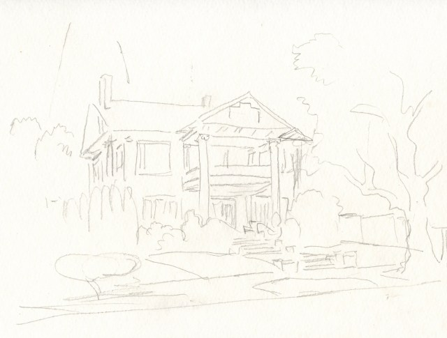 Step 3. Rough Pencil Sketch