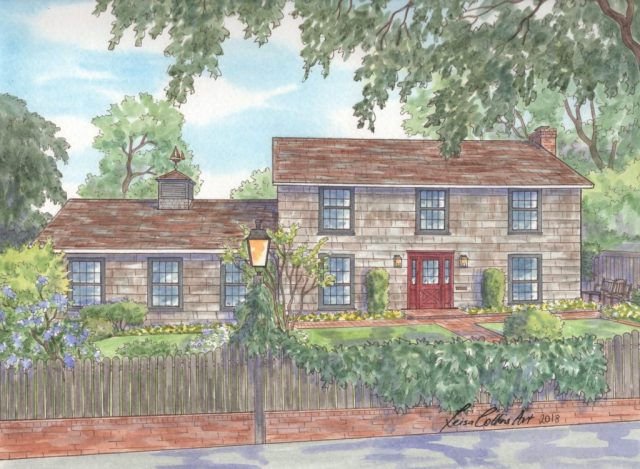 Historic Colonial Home Portrait in San Antonio