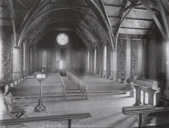 Interior of the church - photo taken in 1891