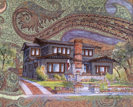 Hand woven Craftsman - Craftsman Style Collage Art by Leisa Collins
