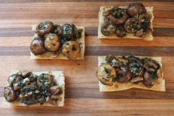 Vegetarian Escargot Toast