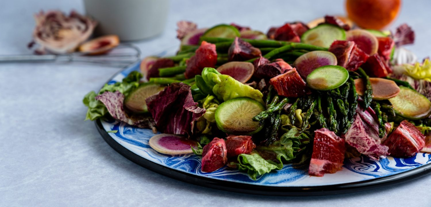 Blood Orange, Asparagus and Radish Salad