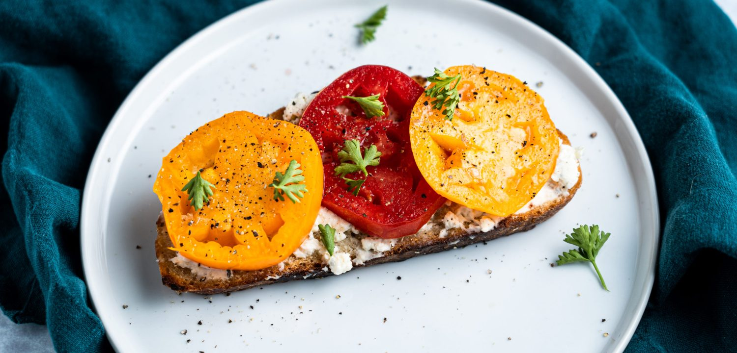 Tomato Toast with Boursin Cheese
