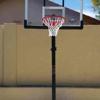 Leisure Installs Basketball Goal installation