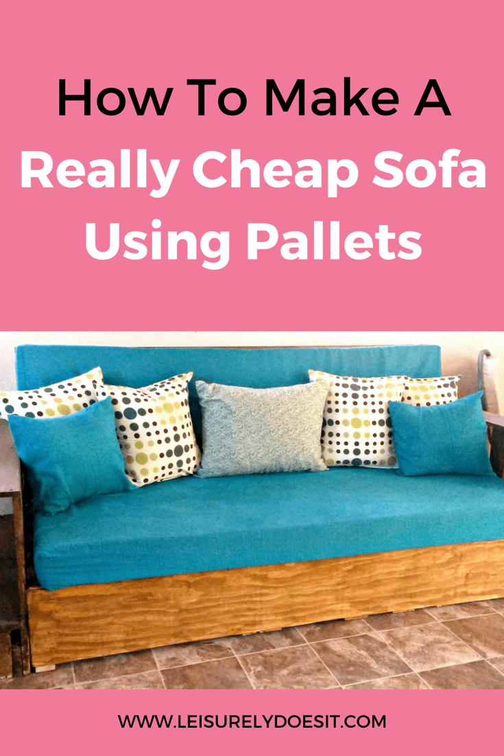 Why spend hundreds of dollars to purchase a sofa for your home when you can make one using pallets? See how I made my affordable and stylish pallet sofa.