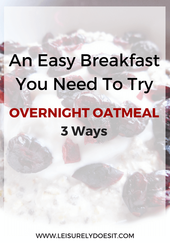 If waking up to a delicious prepared breakfast sounds good to you, then you'll be thrilled with these three Overnight Oatmeal recipes.
